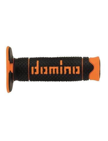 Puños Domino DSH off-road Negro - Naranja Cerrados D 22 mm L 120 mm