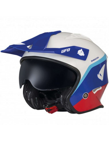 CASCO UFO SHERATAN BLUE WHITE AND RED