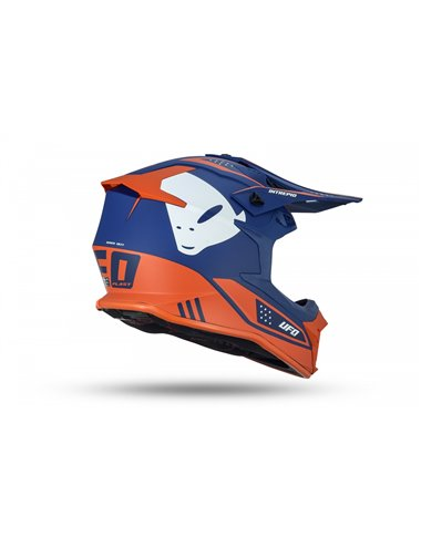 CASCO UFO INTREPID HELMET BLUE AND ORANGE