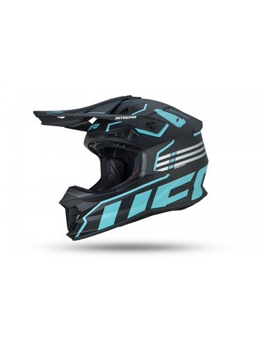 CASCO UFO INTREPID HELMET BLACK AND LIGHT BLUE