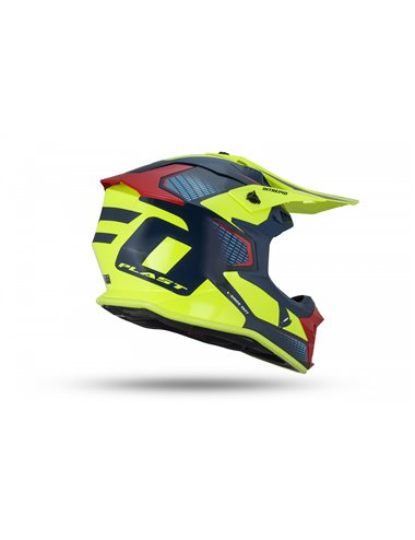 CASCO UFO INTREPID HELMET BLUE, RED AND NEON YELLOW