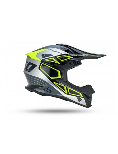 CASCO UFO INTREPID HELMET BLACK, GRAY AND NEON GREEN