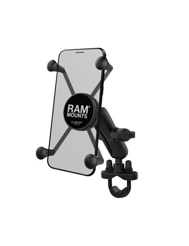 "KIT MOTO SOPORTE SMARTPHONE RAM MOUNTS X-GRIP 5"""