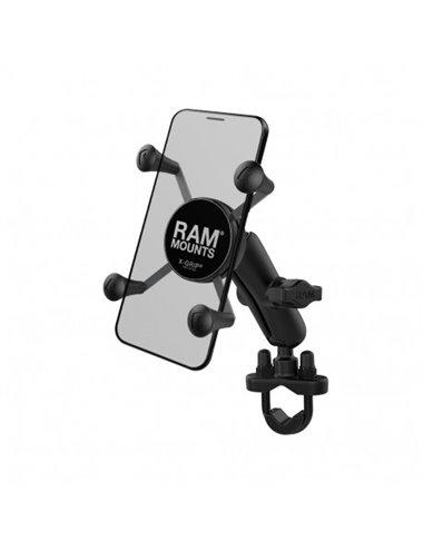 KIT MOTO SOPORTE SMARTPHONE RAM MOUNTS X-GRIP